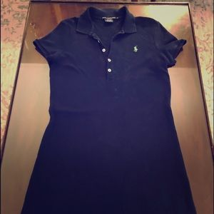 Ralph Lauren Sport Navy Blue Polo Cotton Dress S
